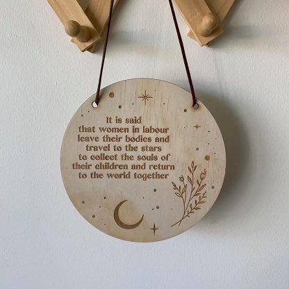 mini birth plaque
